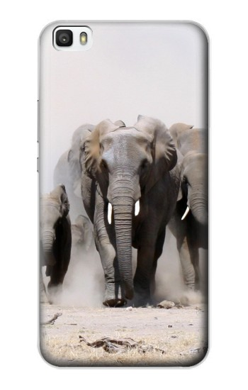 Printed African Elephant Huawei P8lite Case