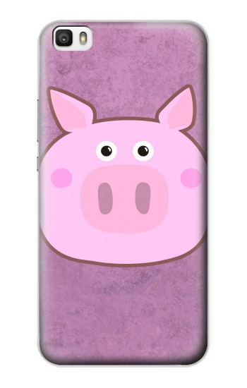 Printed Pig Cartoon Huawei P8lite Case