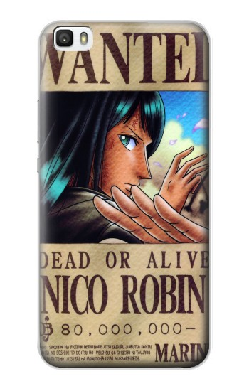 Printed One Piece Nico Robin Wanted Poster Huawei P8max Case