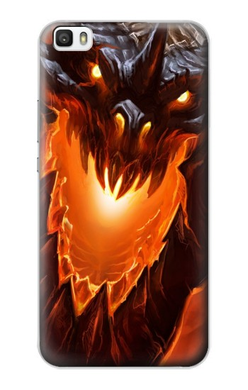 Printed Fire Dragon Huawei P8max Case