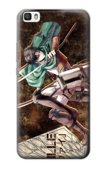 Printed Attack on Titan Rivaille Huawei P8max Case