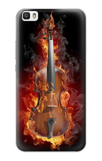 Printed Fire Violin Huawei P8max Case