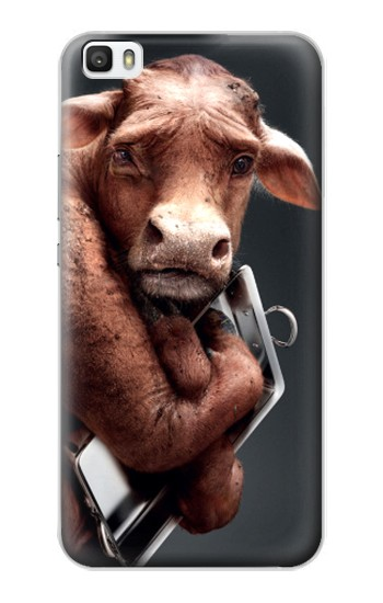 Printed Crazy Cow Huawei P8max Case