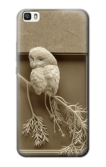 Printed Paper Sculpture Owl Huawei P8max Case