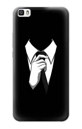 Printed Anonymous Man in Black Suit Huawei P8max Case