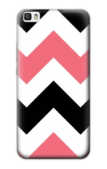 Printed Pink Black Chevron Zigzag Huawei P8max Case