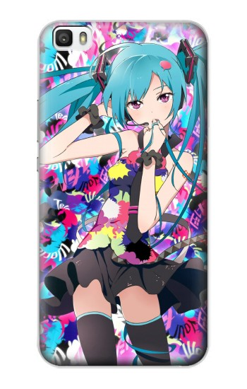 Printed Vocaloid Hatsune Miku Tell Your World Huawei P8max Case