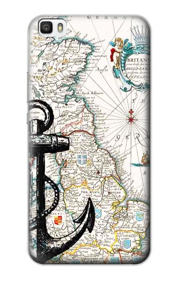Printed Nautical Chart Huawei P8max Case