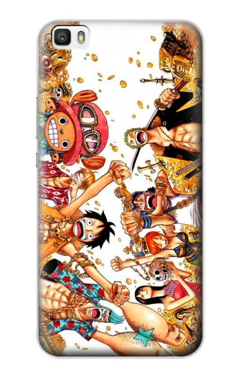 Printed One Piece Straw Hat Luffy Pirate Crew Huawei P8max Case