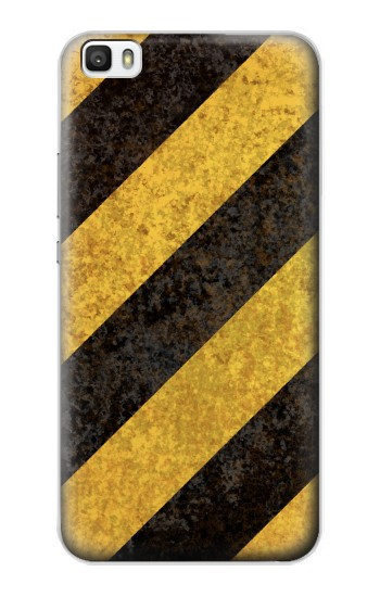 Printed Yellow and Black Line Hazard Striped Huawei P8max Case
