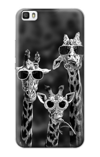 Printed Giraffes With Sunglasses Huawei P8max Case
