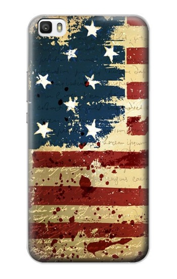 Printed Old American Flag Huawei P8max Case