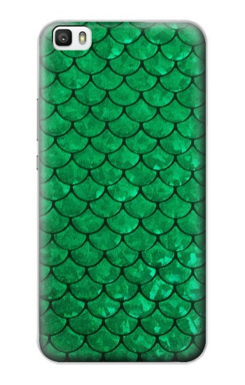 Printed Green Fish Scale Pattern Huawei P8max Case