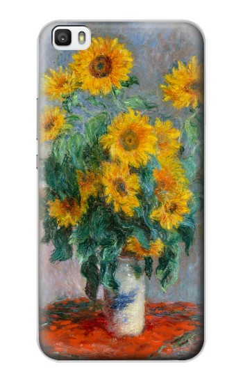 Printed Claude Monet Bouquet of Sunflowers Huawei P8max Case