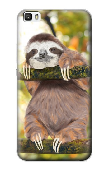 Printed Cute Baby Sloth Paint Huawei P8max Case