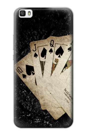 Printed Vintage Royal Straight Flush Cards Huawei P8max Case
