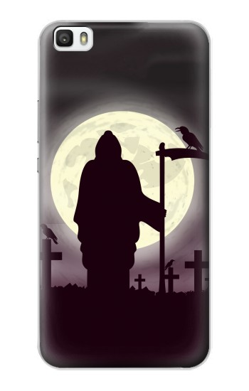 Printed Night Moon Cemetery Huawei P8max Case