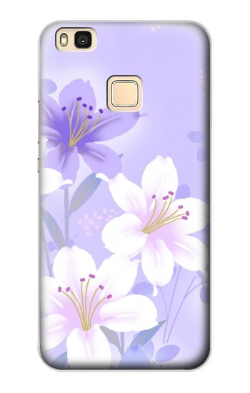 Printed Purple White Flowers Huawei P9 Lite / G9 Lite Case
