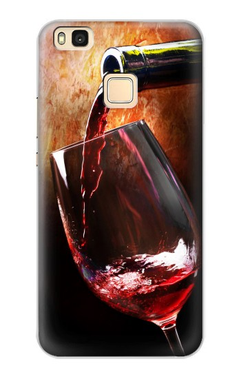 Printed Red Wine Bottle And Glass Huawei P9 Lite / G9 Lite Case