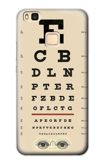 Printed Eye Exam Chart Decorative Decoupage Poster Huawei P9 Lite / G9 Lite Case