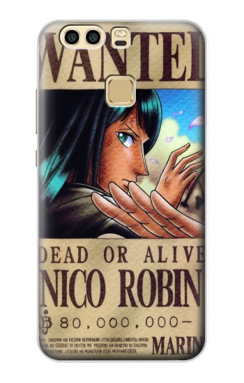 Printed One Piece Nico Robin Wanted Poster Huawei P9 Plus Case