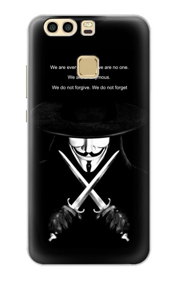 Printed V Mask Guy Fawkes Anonymous Huawei P9 Plus Case
