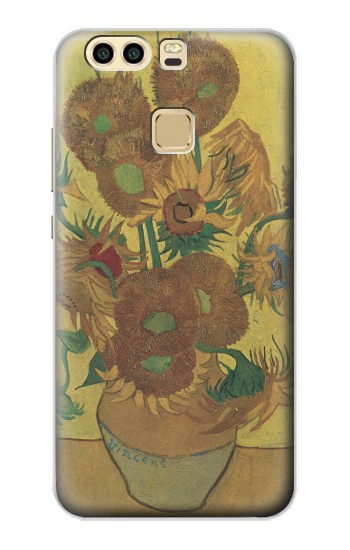 Printed Van Gogh Vase Fifteen Sunflowers Huawei P9 Plus Case