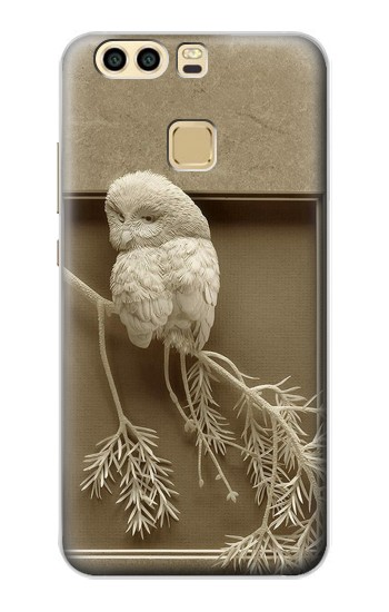 Printed Paper Sculpture Owl Huawei P9 Plus Case