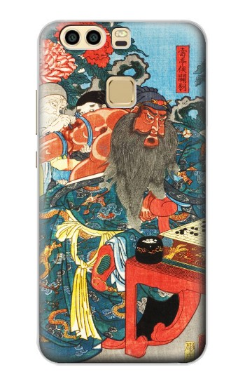 Printed Japan Art Utagawa Kuniyoshi Guan Yu Huawei P9 Plus Case