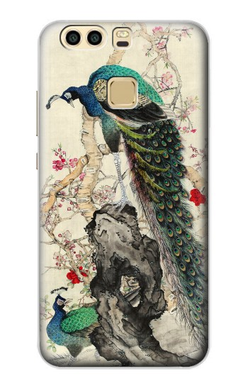 Printed Peacock Painting Huawei P9 Plus Case