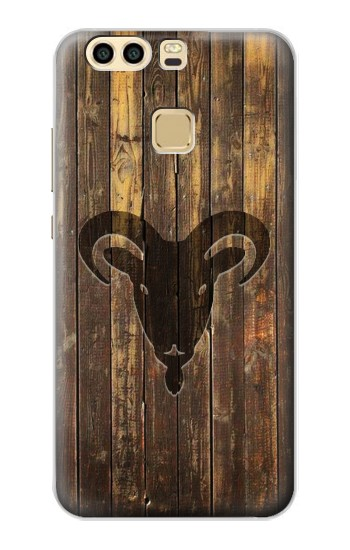 Printed Goat 2015 Year Wood Craving Graphic Printed Huawei P9 Plus Case