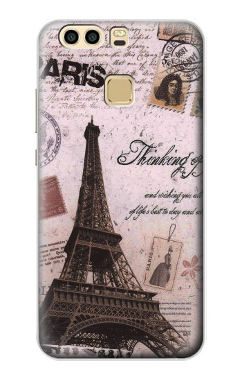 Printed Paris Postcard Eiffel Tower Huawei P9 Plus Case