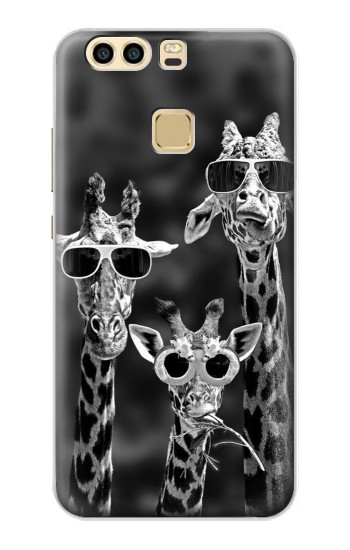Printed Giraffes With Sunglasses Huawei P9 Plus Case