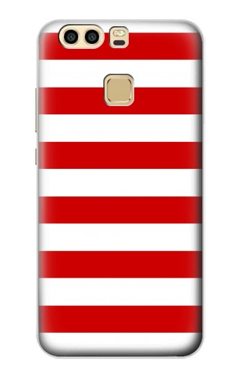 Printed Red and White Striped Huawei P9 Plus Case