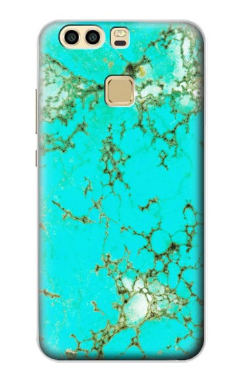 Printed Turquoise Gemstone Texture Graphic Printed Huawei P9 Plus Case