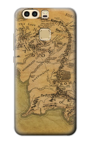 Printed The Lord Of The Rings Middle Earth Map Huawei P9 Plus Case