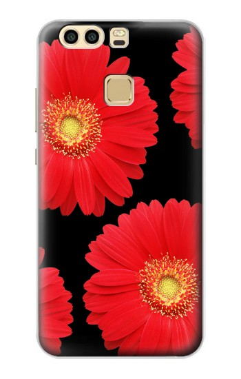 Printed Red Daisy flower Huawei P9 Plus Case