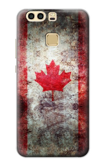 Printed Canada Maple Leaf Flag Texture Huawei P9 Plus Case
