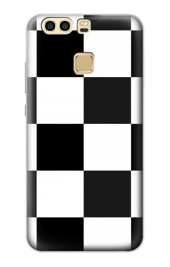 Printed Black and White Checkerboard Huawei P9 Plus Case