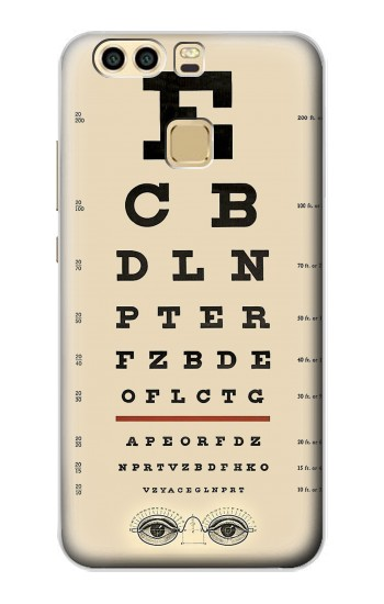 Printed Eye Exam Chart Decorative Decoupage Poster Huawei P9 Plus Case