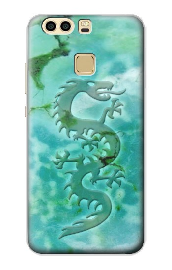 Printed Chinese Dragon Green Turquoise Stone Huawei P9 Plus Case