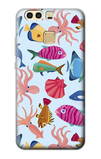 Printed Fish Pattern Huawei P9 Plus Case