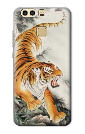 Printed Chinese Tiger Tattoo Painting Huawei P9 Plus Case