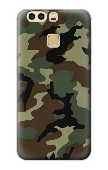 Printed Army Green Woodland Camo Huawei P9 Plus Case
