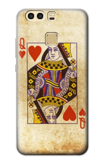Printed Poker Card Queen Hearts Huawei P9 Plus Case
