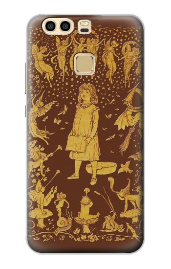Printed Brown Fairy Book Cover Huawei P9 Plus Case