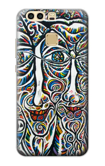 Printed Colorful Faces Berlin Wall Huawei P9 Plus Case