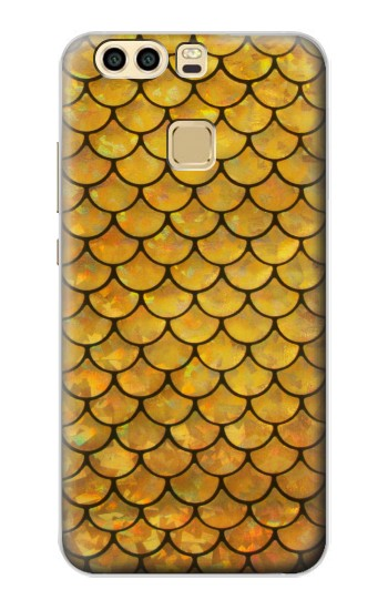 Printed Gold Fish Scale Huawei P9 Plus Case