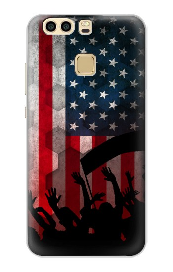 Printed USA American Football Flag Huawei P9 Plus Case