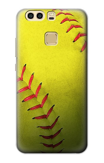 Printed Yellow Softball Ball Huawei P9 Plus Case